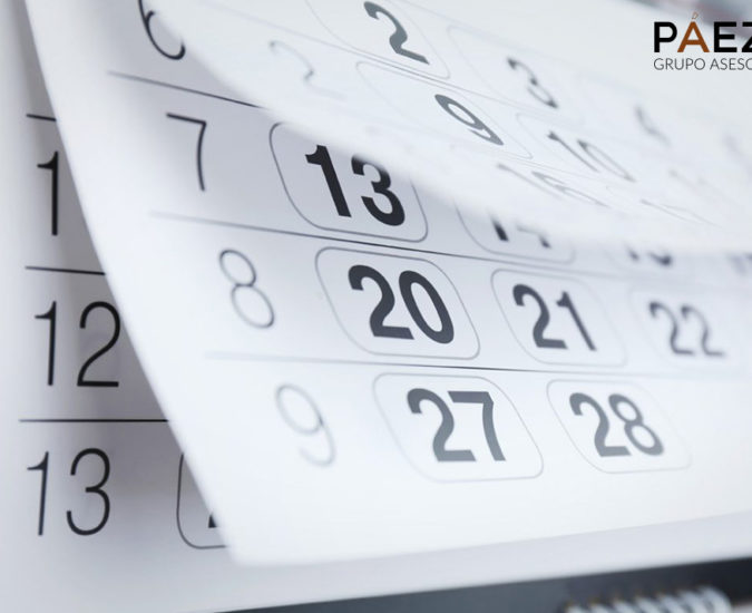 Calendario del contribuyente 2019